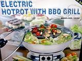 Hotpot elettrico multifunzione con griglia barbecue