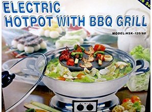 Multi-Cooker Electric Hotpot met BBQ Grill