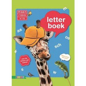 Letterboek maan-roos-vis