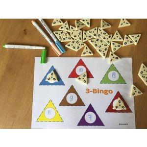 Printblad Triominos 3-bingo