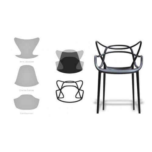 Kartell masters chair in black 5 1 gratis design originals Chaise kartell masters