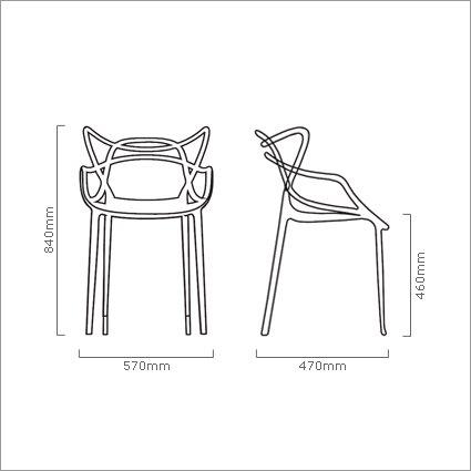 Kartell masters chair in black 5 1 gratis design originals - Chaises kartell masters ...