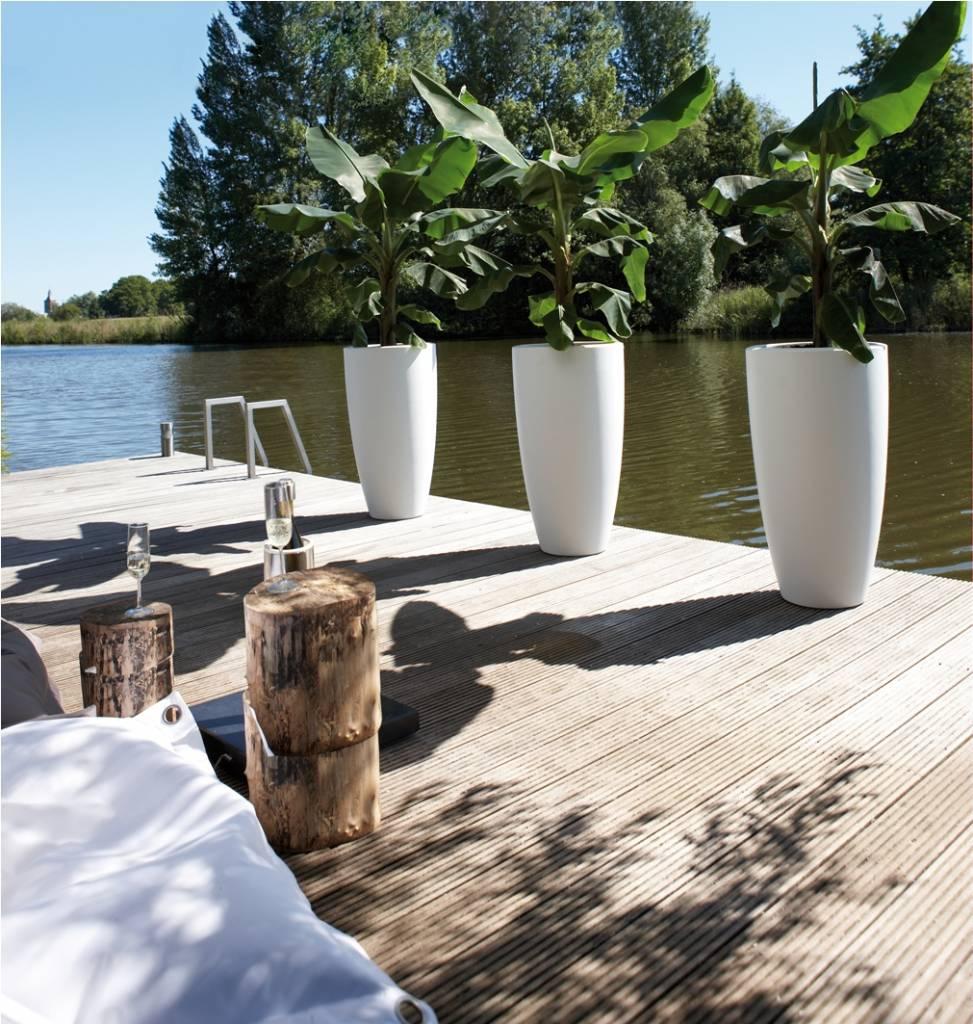 elho pure soft round high le pot de fleurs en plein air l gant. Black Bedroom Furniture Sets. Home Design Ideas