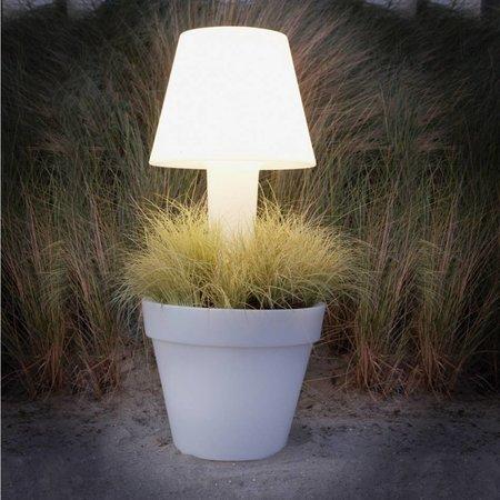 Elho Elho Pure® Twilight - Le pot de fleurs lumineux diam 50cm H114cm avec style pour votre terrasse, votre jardin ou votre intérieur!