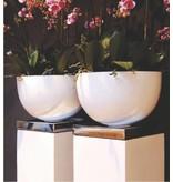 Fiberstone Bol brillant - brillant élégant Flowerpot en 6 couleurs fraîches!