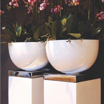 Fiberstone Glossy Bowl. Flowerpot beau brillant laqué!