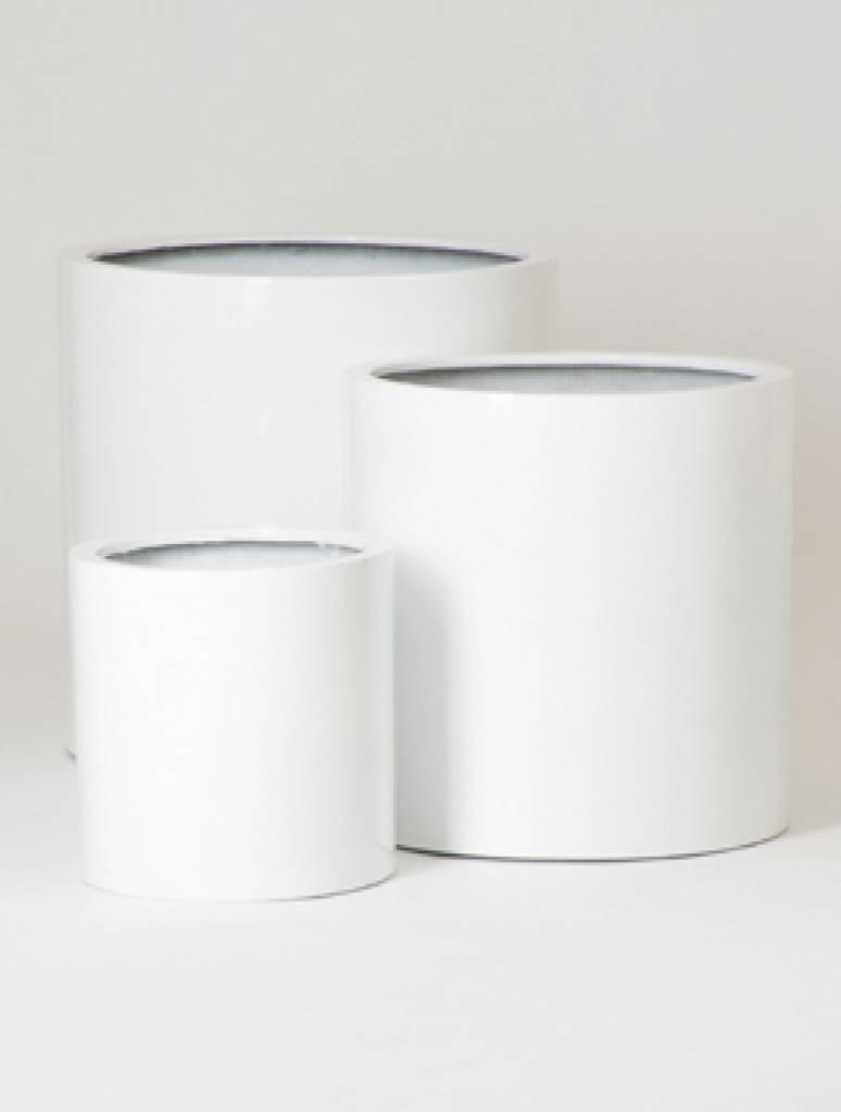 Fiberstone Glossy Max - Hoogwaardige kwaliteit bloempot in hoogglans wit!