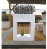 Fiberstone Glossy Hole In One - Uniek vormgegeven bloembak in stijlvol hoogglans wit!