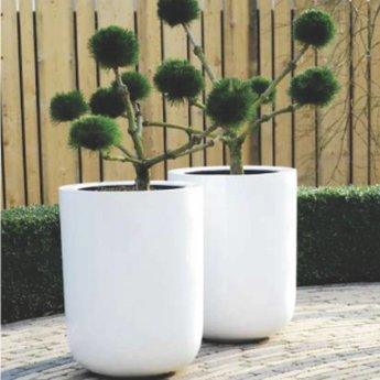 Fiberstone Glossy Dice. Beautiful Flowerpot in high gloss lacquered!
