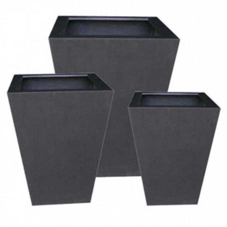 Fiberstone Thom - Stijlvolle Bloembak met een natuurlijke uitstraling, verkrijgbaar in zwart en grijs
