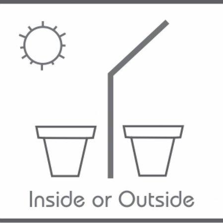Fiberstone Jumbo à pied - Belle boîte à fleurs pour l'extérieur et à l'intérieur!