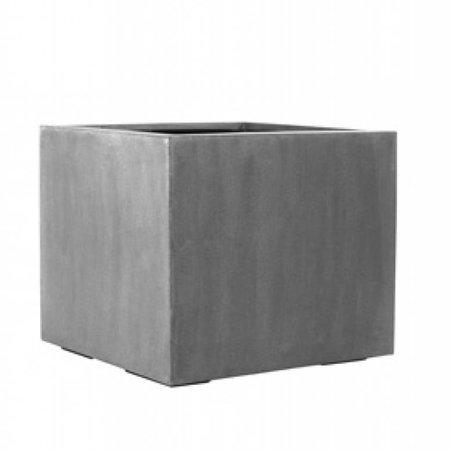 Fiberstone Jumbo - Stijlvolle, grote bloembak in zwart en grijs