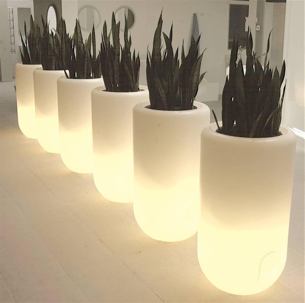 bloom pill bloempot met verlichting. Black Bedroom Furniture Sets. Home Design Ideas