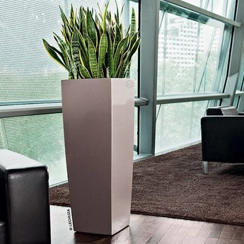 Lechuza Cubico Alto 40 Flowerpot - Simplicity and style in multiple colors.