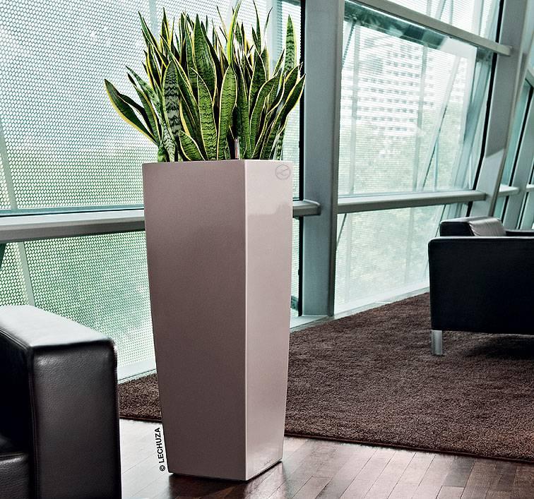 lechuza cubico alto 40 flowerpot simplicit et style dans plusieurs couleurs. Black Bedroom Furniture Sets. Home Design Ideas