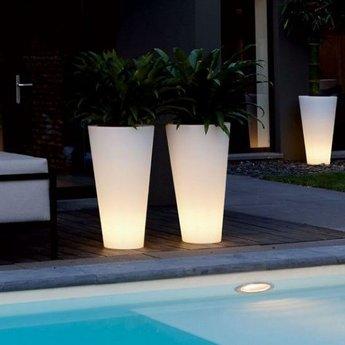 Elho Pure Straight High Led Light - pot unique à la fois à l'intérieur et à l'extérieur!