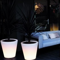 Pure Straight Led Light Pot de fleurs
