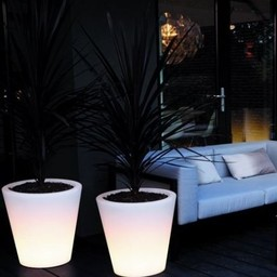 Elho Pure Straight Led Light Flowerpot
