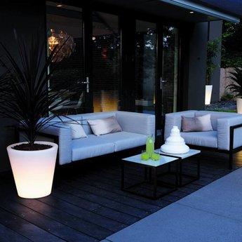 Elho Pure Straight Led Light - pot unique à la fois à l'intérieur et à l'extérieur!