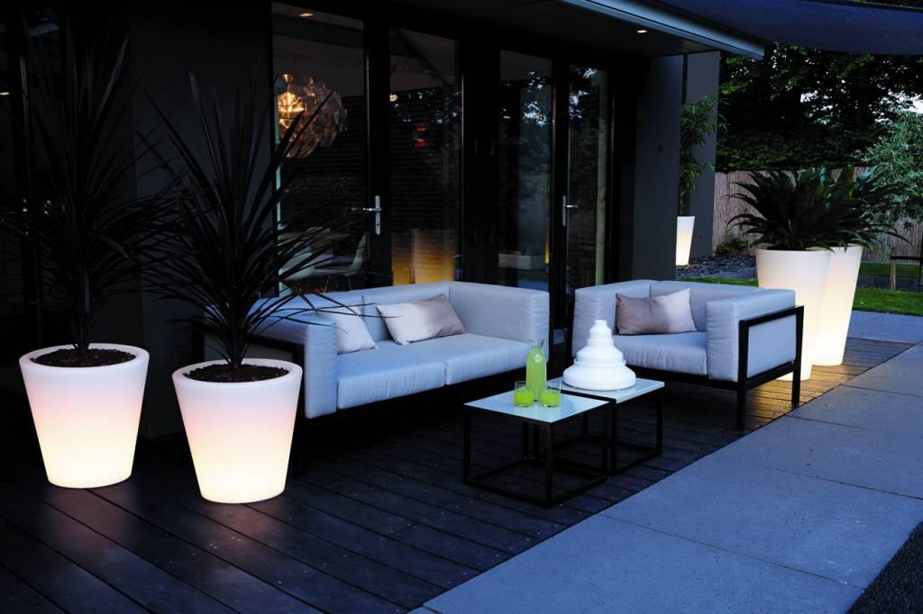 Elho Pure Straight Led Light - Unieke verlichte bloempot voor zowel ...