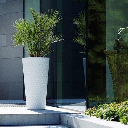 Elho Pot de fleurs Pure White Crystal High blanc 42cm H80cm -15% de réduction en ligne!