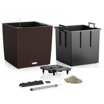 Lechuza Cube Cottage Flowerpot - Includes Lechuza Irrigation