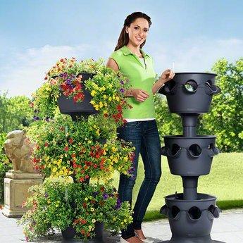 Lechuza Cascada Color Flowerpot - Includes Lechuza Irrigation