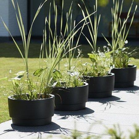 Elho Elho Pure Grade Bowl zwart bloempot 47cm H27cm -15% korting online bestellen!