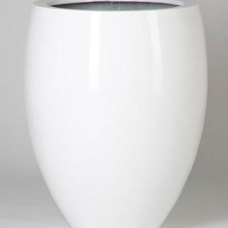 Fiberstone Glossy Bond - Prachtige Bloempot in hoogglans wit en meerdere maten!