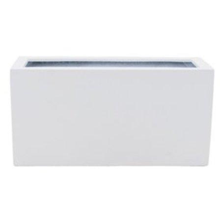 Fiberstone Brillant Jort Flowerpot - élégant dans la peinture blanc brillant!