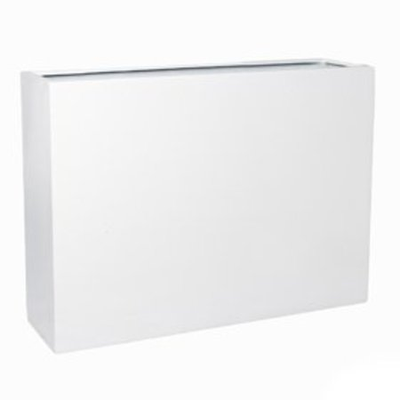 Fiberstone Brillant Jort Slim Flowerpot - serré dans la peinture blanche brillante!