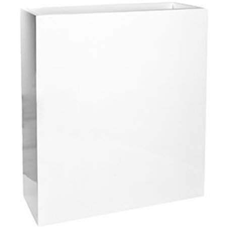 Fiberstone Brillant Jort Slim haut Flowerpot - serré dans la peinture blanche brillante!