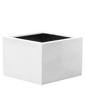 Fiberstone Brillant Jumbo Moyen haut Flowerpot,. Dans beau blanc brillant!