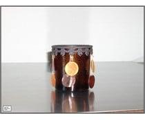 Periglass T-light deco brown