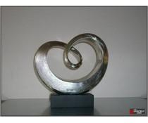 sculptuur cuore zilver