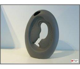Periglass lovervase 27 cm antraciet