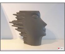 Periglass speed -vase 28 cm antraciet