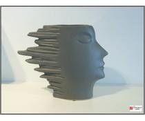 Periglass speed -vase 26 cm antraciet