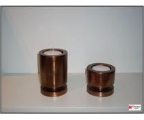 Bob bijzondere binnenhuisaccessoires Set kandelaars van Bob koper /bruin .