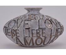 Periglass Vase L'Amore grey