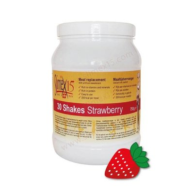 Slimex 15 afslank shake Aardbei (2 maanden)