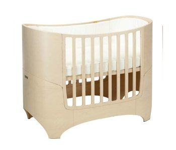 Leander Babybett mit Junior-kit white wash