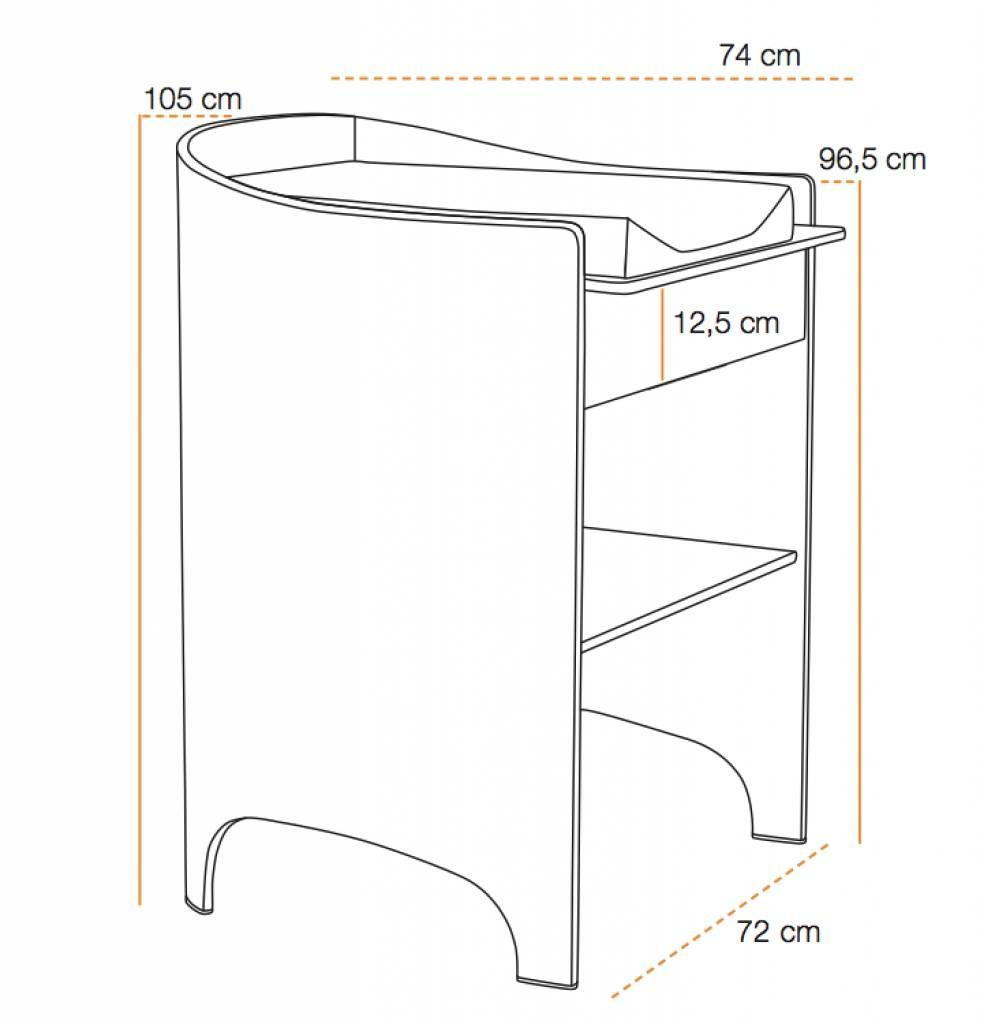 leander wickeltisch einschl wickelunterlage walnuss. Black Bedroom Furniture Sets. Home Design Ideas