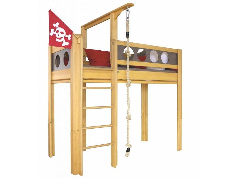 piraten hochbett timmy spielbett kinderbett hochbett. Black Bedroom Furniture Sets. Home Design Ideas