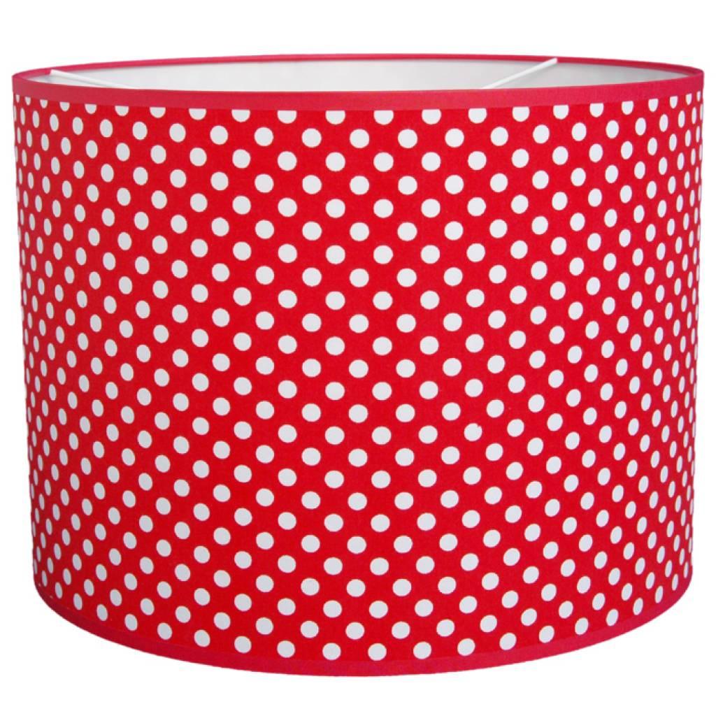taftan lampenschirm polkadots rot weiss. Black Bedroom Furniture Sets. Home Design Ideas