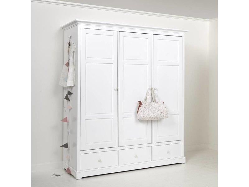 oliver furniture kleiderschrank 3 t rig wei. Black Bedroom Furniture Sets. Home Design Ideas