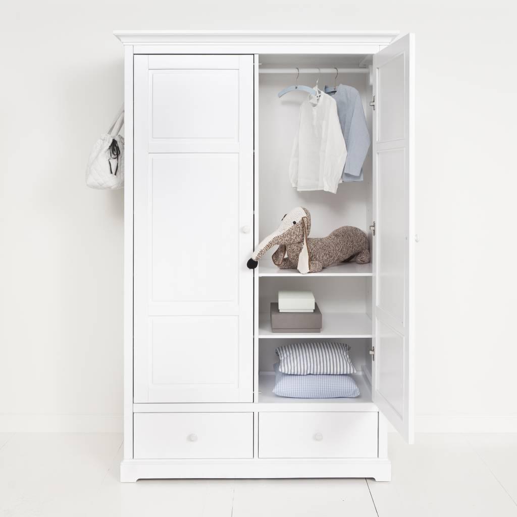 oliver furniture kleiderschrank 2 t rig wei. Black Bedroom Furniture Sets. Home Design Ideas