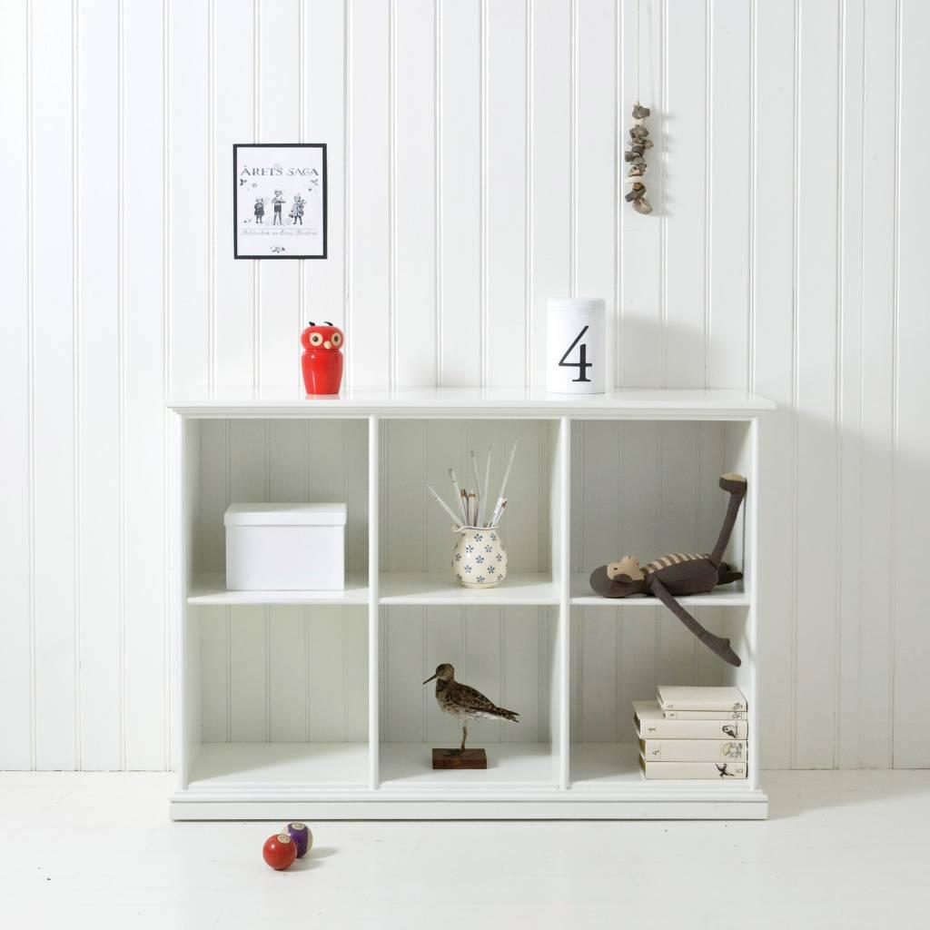oliver furniture regal mit 6 f cher wei. Black Bedroom Furniture Sets. Home Design Ideas