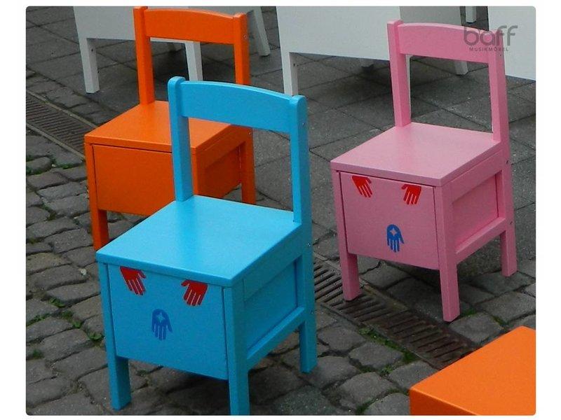 baff Musikmöbel Kindertrommelstuhl, 34 cm Sitzhöhe