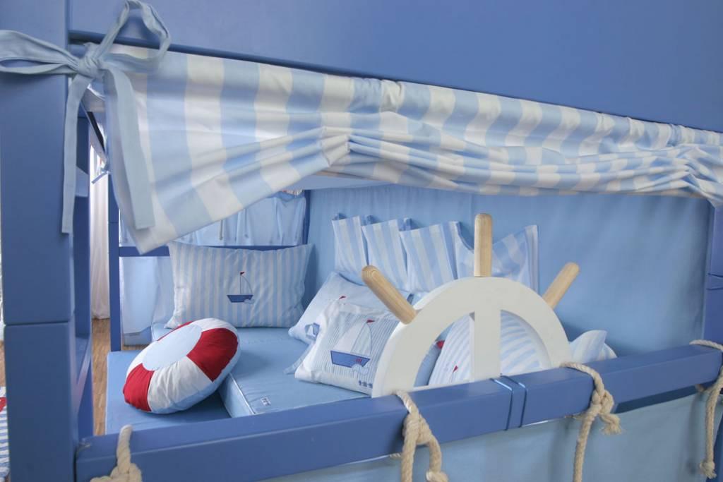 bettnest segelboot 90x200 30 cm. Black Bedroom Furniture Sets. Home Design Ideas